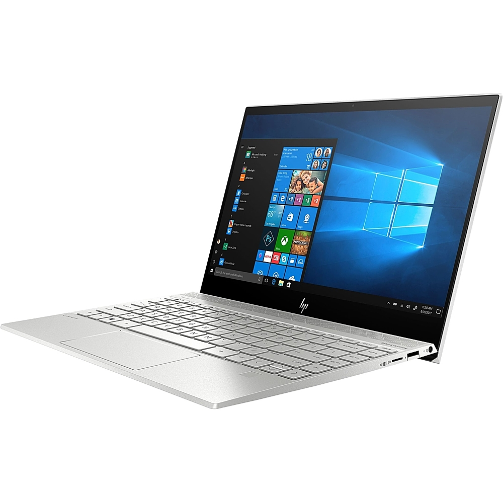 """Alt View Zoom 11. HP - Envy 13.3"""" Touch-Screen Laptop - Intel Core i7 - 8GB Memory - 512GB SSD - Natural Silver, Sandblasted Anodized Finish."""