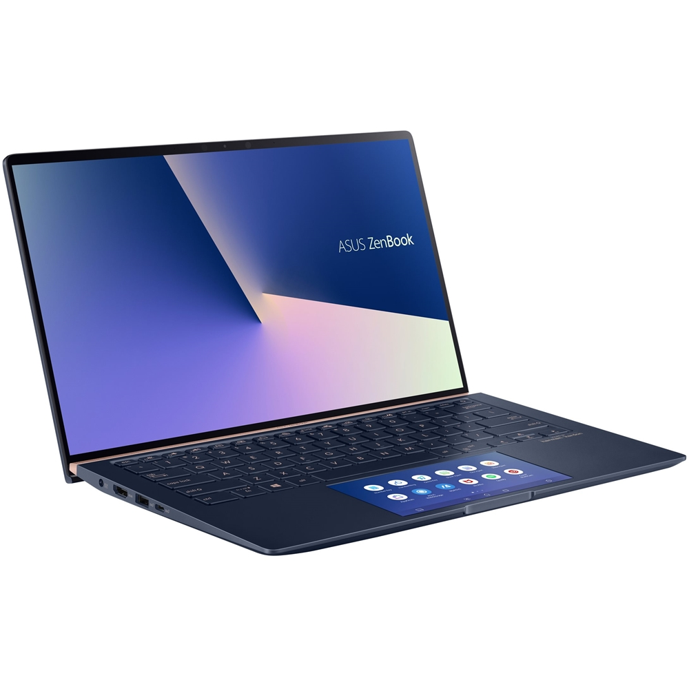 "Left Zoom. ASUS - Zenbook 14"" Laptop - Intel Core i7 - 16GB Memory - NVIDIA GeForce MX250 - 512GB SSD - Royal Blue - Royal Blue."