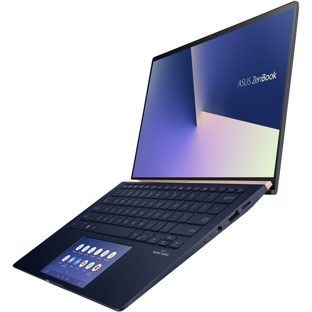 "Alt View Zoom 13. ASUS - Zenbook 14"" Laptop - Intel Core i7 - 16GB Memory - NVIDIA GeForce MX250 - 512GB SSD - Royal Blue - Royal Blue."