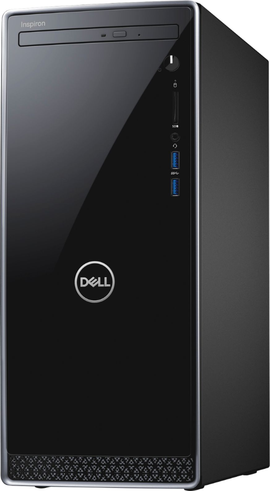 Left Zoom. Dell - Inspiron Desktop - Intel Core i5 - 12GB Memory - 256GB Solid State Drive - Black With Silver Trim.