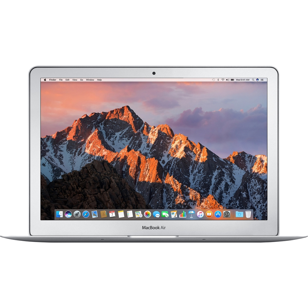 "Front Zoom. Apple - MacBook Air 13.3"" Pre-Owned Laptop - Intel Core i5 - 4GB Memory - 256GB Solid State Drive - Silver."
