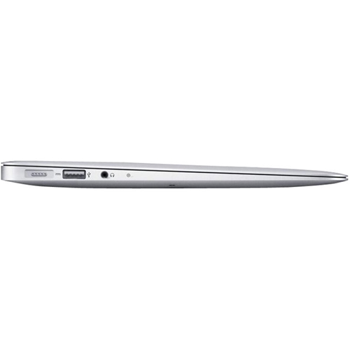 "Left Standard. Apple - MacBook Air 13.3"" Pre-Owned Laptop - Intel Core i5 - 4GB Memory - 256GB Solid State Drive - Silver."