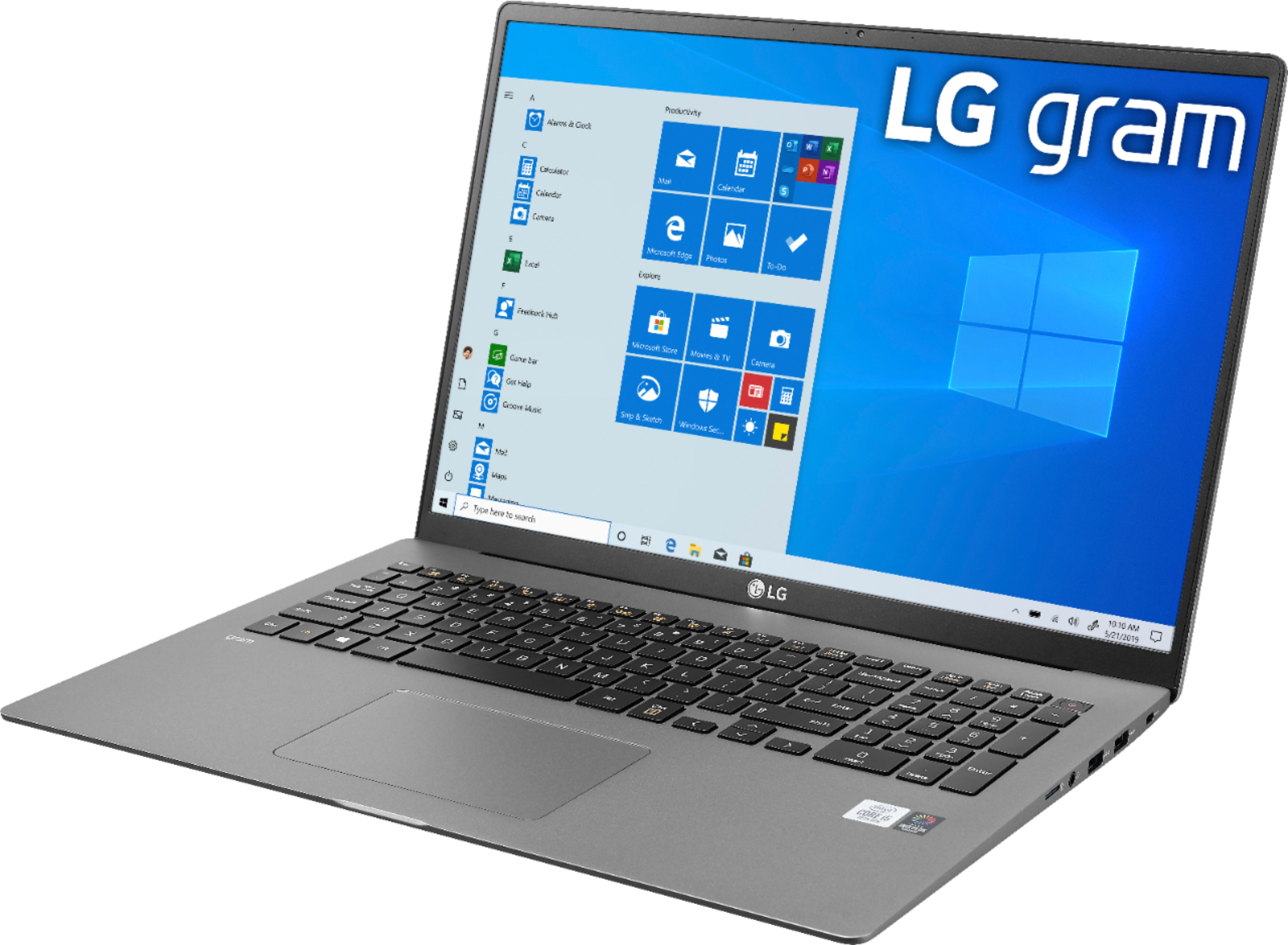 "Left Zoom. LG - gram 17"" Laptop – 11th Gen Intel Core i7 - 16GB Memory - 2TB SSD - Silver."