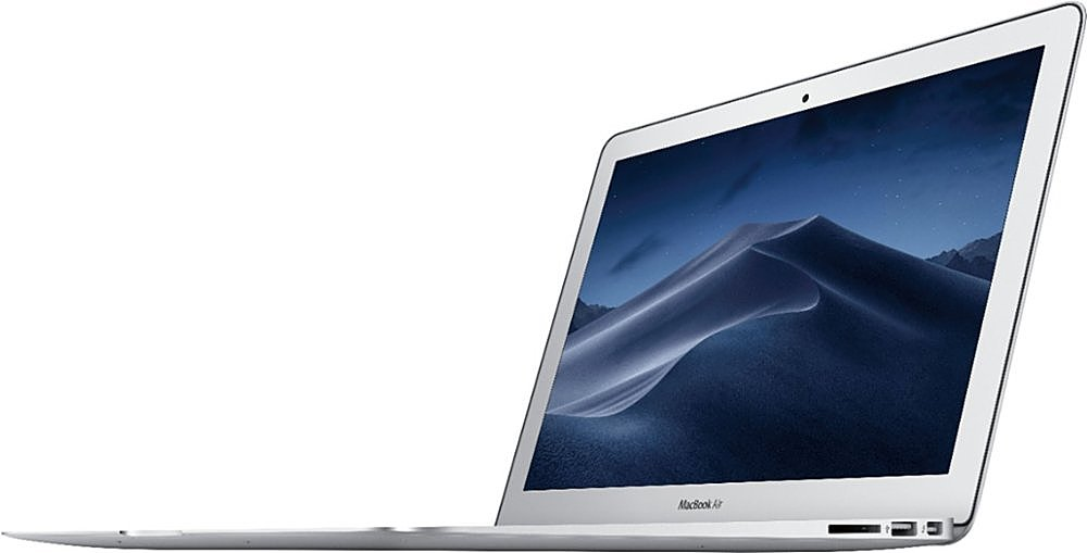 "Angle Zoom. Apple - MacBook Air - 13"" Pre-Owned - Core i5 - 8GB Memory - 128GB Solid State Drive - Silver."