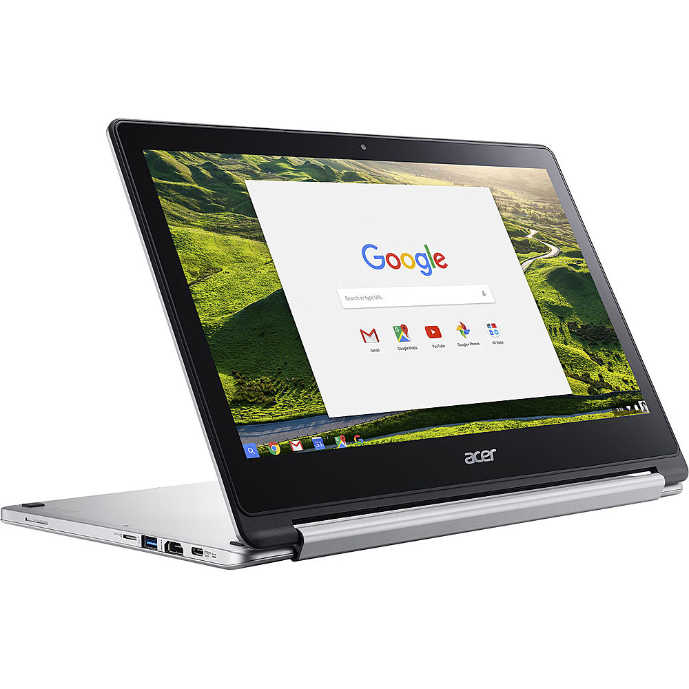 Angle Zoom. Acer - Refurbished Chromebook R 13 - MediaTek M8173C - 4GB Memory - 64GB Flash - White.