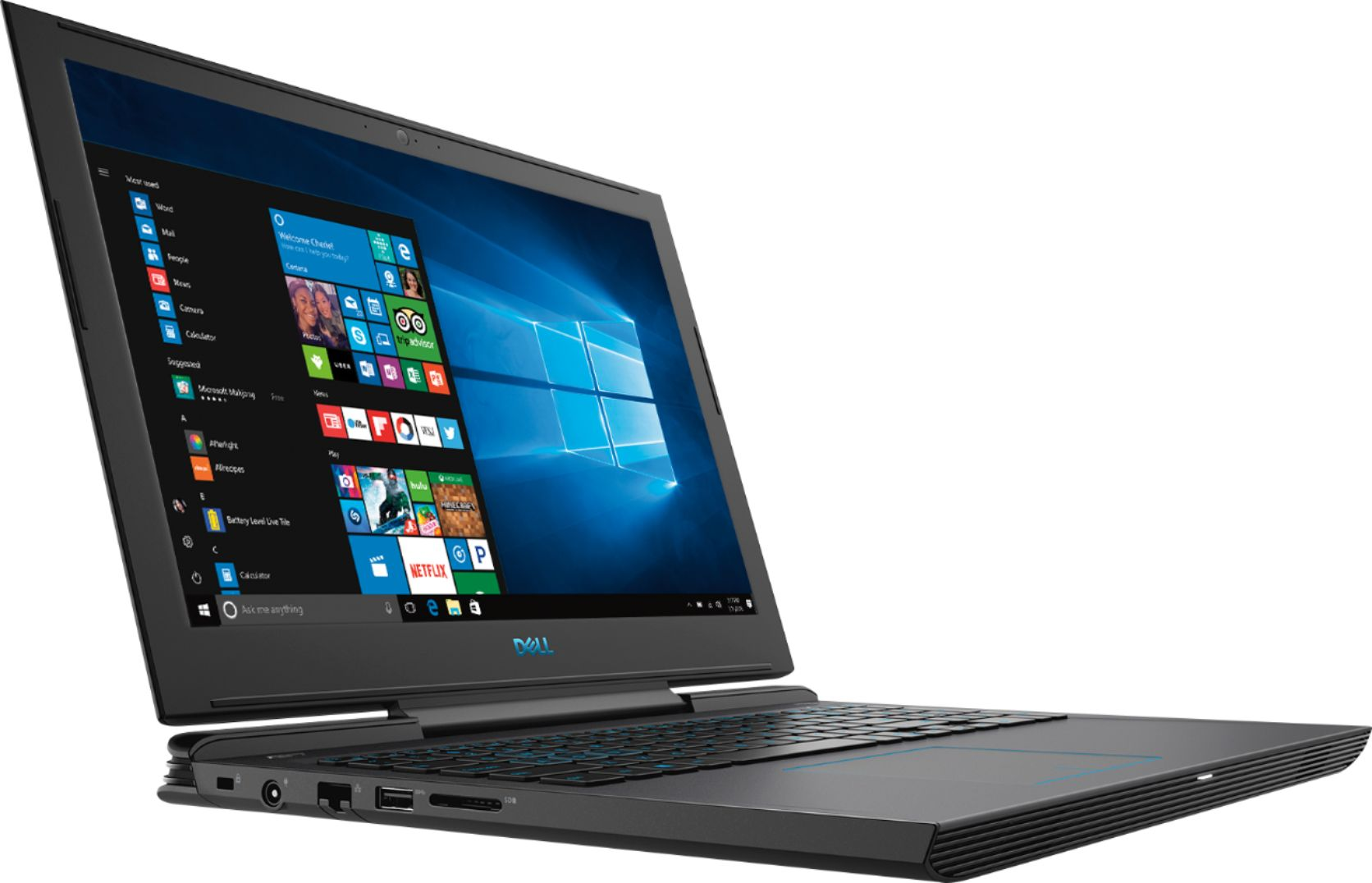 "Angle Zoom. Dell - Geek Squad Certified Refurbished 15.6"" Laptop - Intel Core i7 - 16GB Memory - NVIDIA GeForce GTX 1060 - 128GB SSD+1TB HD - Licorice Black."