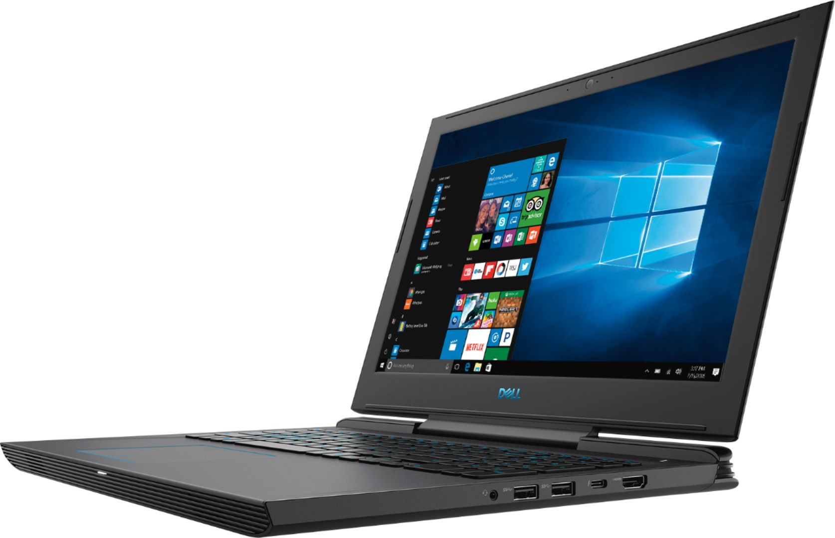"Left Zoom. Dell - Geek Squad Certified Refurbished 15.6"" Laptop - Intel Core i7 - 16GB Memory - NVIDIA GeForce GTX 1060 - 128GB SSD+1TB HD - Licorice Black."