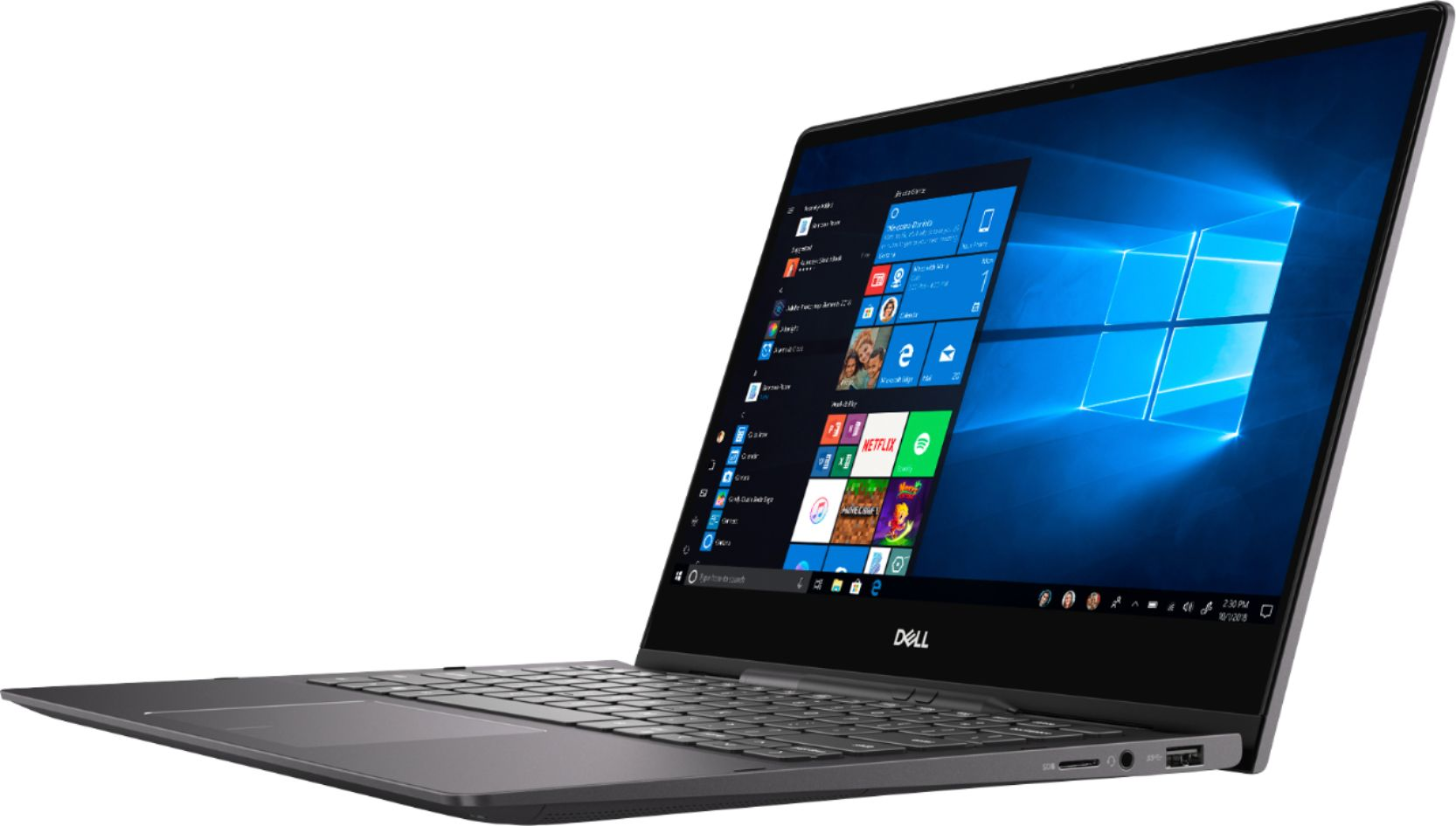 "Left Zoom. Dell - Inspiron 13.3"" Geek Squad Certified Refurbished 4K Ultra HD Touch-Screen Laptop Intel Core i7 16GB Memory 512GB SSD - Black."