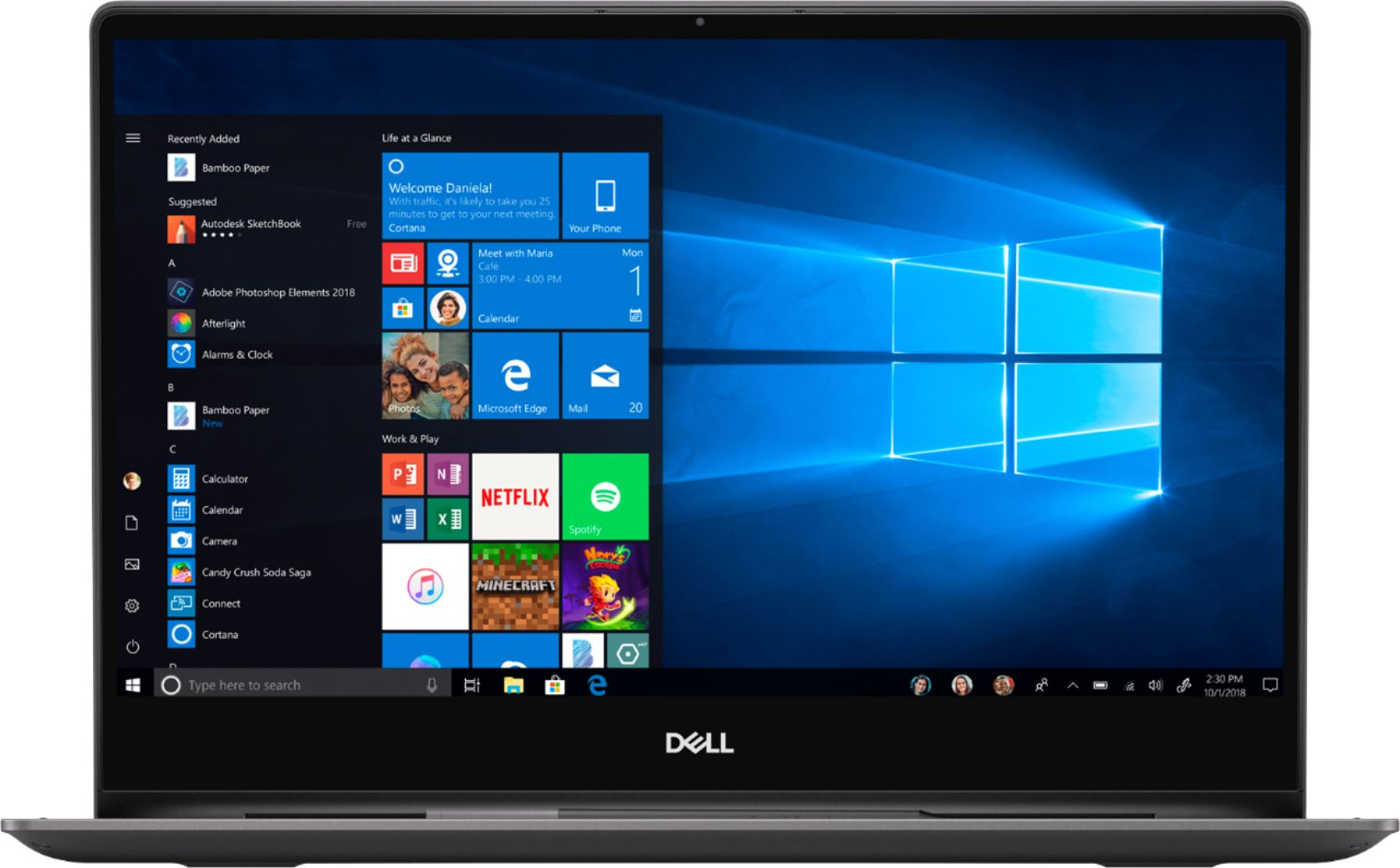 "Alt View Zoom 12. Dell - Inspiron 13.3"" Geek Squad Certified Refurbished 4K Ultra HD Touch-Screen Laptop Intel Core i7 16GB Memory 512GB SSD - Black."
