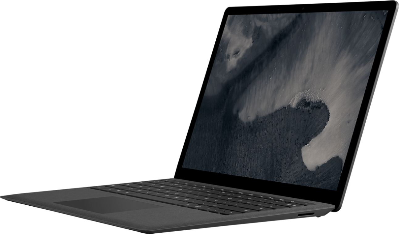 """Front Zoom. Microsoft - Geek Squad Certified Refurbished Surface Laptop 2 - 13.5"""" Touch Screen - Intel Core i5 - 8GB - 256GB SSD - Black."""
