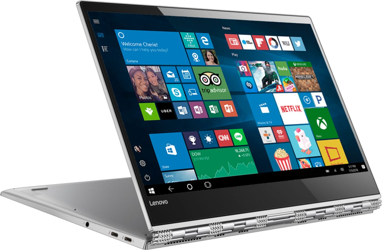 """Angle Zoom. Lenovo - Geek Squad Certified Refurbished Yoga 920 2-in-1 13.9"""" 4K Touch-Screen Laptop - Intel Core i7 - 16GB Memory - 512GB SSD - Platinum."""