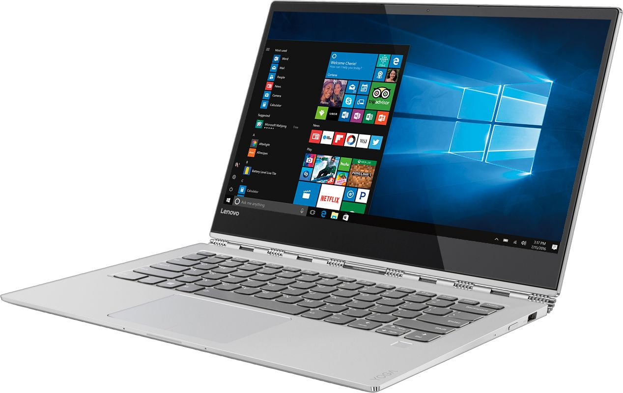 """Left Zoom. Lenovo - Geek Squad Certified Refurbished Yoga 920 2-in-1 13.9"""" 4K Touch-Screen Laptop - Intel Core i7 - 16GB Memory - 512GB SSD - Platinum."""