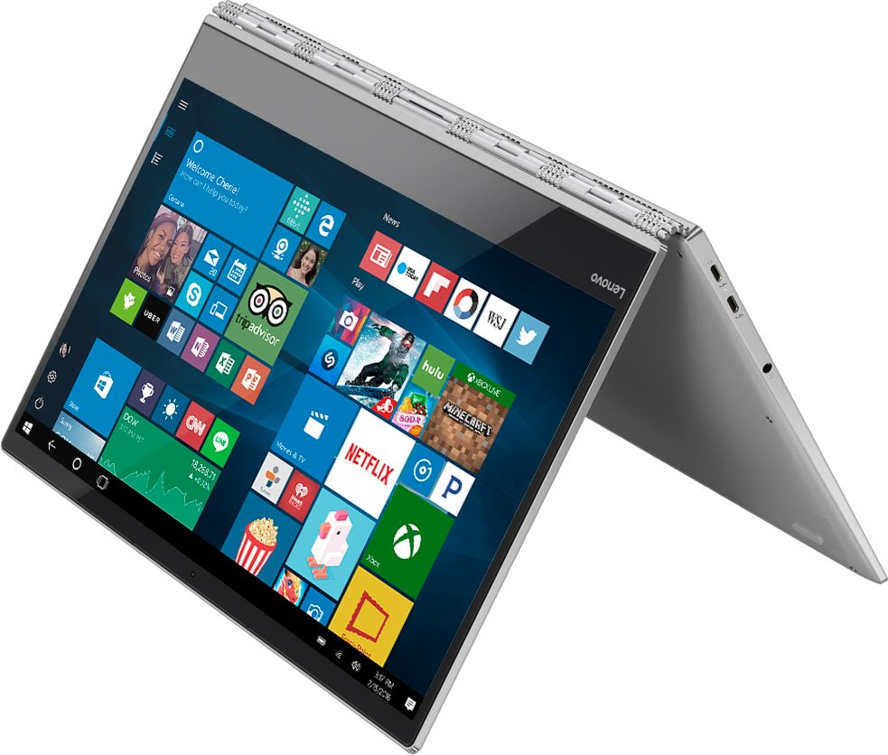 """Alt View Standard 1. Lenovo - Geek Squad Certified Refurbished Yoga 920 2-in-1 13.9"""" 4K Touch-Screen Laptop - Intel Core i7 - 16GB Memory - 512GB SSD - Platinum."""
