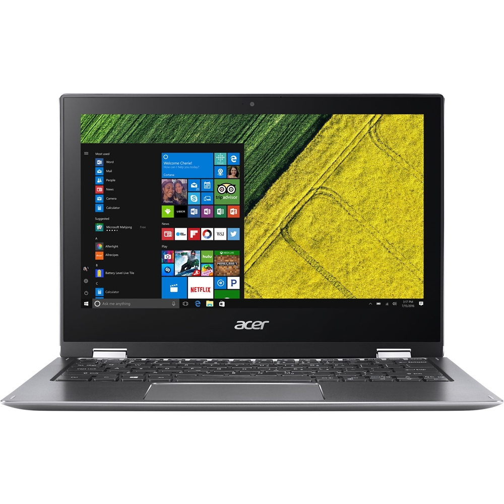 """Front Zoom. Acer - Spin 1 2-in-1 11.6"""" Refurbished Touch-Screen Laptop - Intel Pentium - 4GB Memory - 64GB eMMC Flash Memory - Gray."""