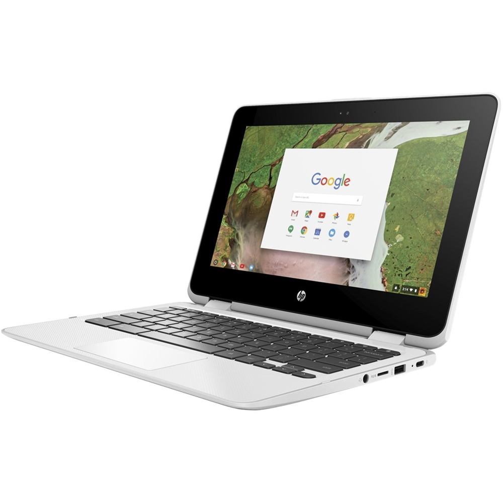 """Alt View Zoom 11. HP - 2-in-1 11.6"""" Touch-Screen Chromebook - Intel Celeron - 4GB Memory - 32GB eMMC Flash Memory - Snow White."""