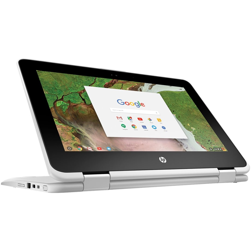 """Alt View Zoom 12. HP - 2-in-1 11.6"""" Touch-Screen Chromebook - Intel Celeron - 4GB Memory - 32GB eMMC Flash Memory - Snow White."""