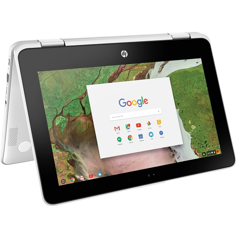 """Alt View Zoom 13. HP - 2-in-1 11.6"""" Touch-Screen Chromebook - Intel Celeron - 4GB Memory - 32GB eMMC Flash Memory - Snow White."""
