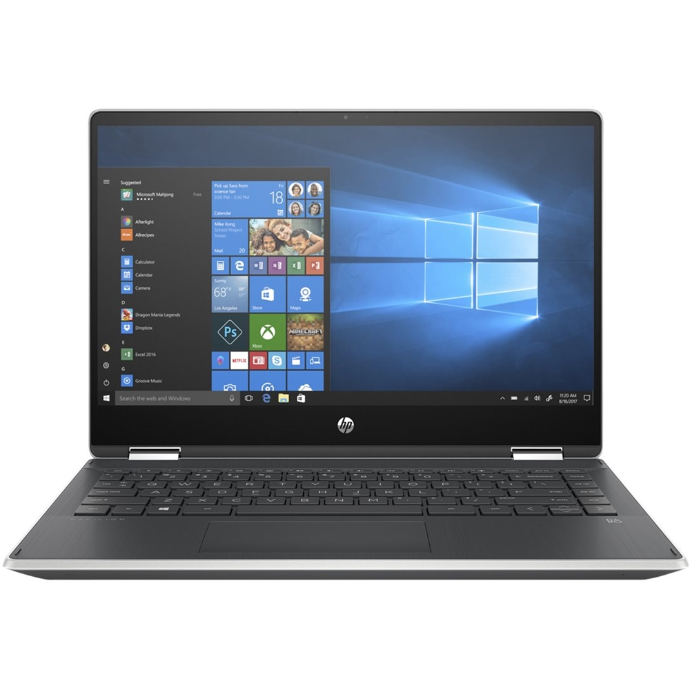 """Alt View Zoom 12. HP - Pavilion x360 2-in-1 14"""" Touch-Screen Laptop - Intel Core i5 - 8GB Memory - 256GB SSD - Natural Silver, Vertical Brushed Pattern."""