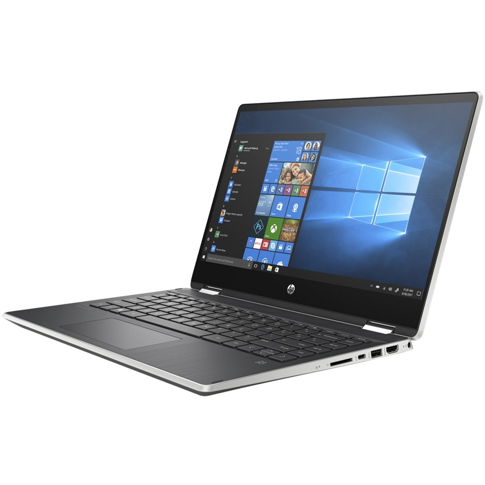"""Alt View Zoom 11. HP - Pavilion x360 2-in-1 14"""" Touch-Screen Laptop - Intel Core i5 - 8GB Memory - 256GB SSD - Natural Silver, Vertical Brushed Pattern."""