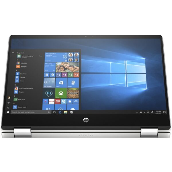 """HP - Pavilion x360 2-in-1 14"""" Touch-Screen Laptop - Intel Core i5 - 8GB Memory - 256GB SSD - Natural Silver, Vertical Brushed Pattern"""
