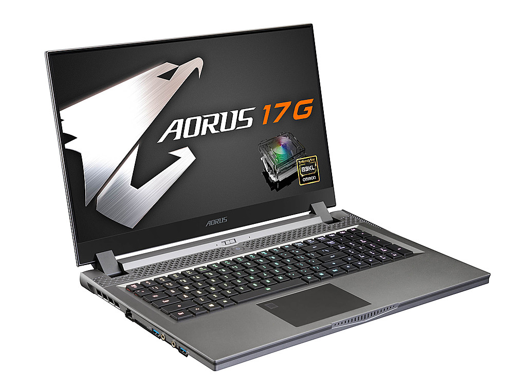 """Left Zoom. Gigabyte -  17.3"""" FHD Gaming Laptop - Intel Core i7 -16GB  -  NVIDIA GeForce RTX 2070 Super With Max-Q- 512GB SSD -Black."""