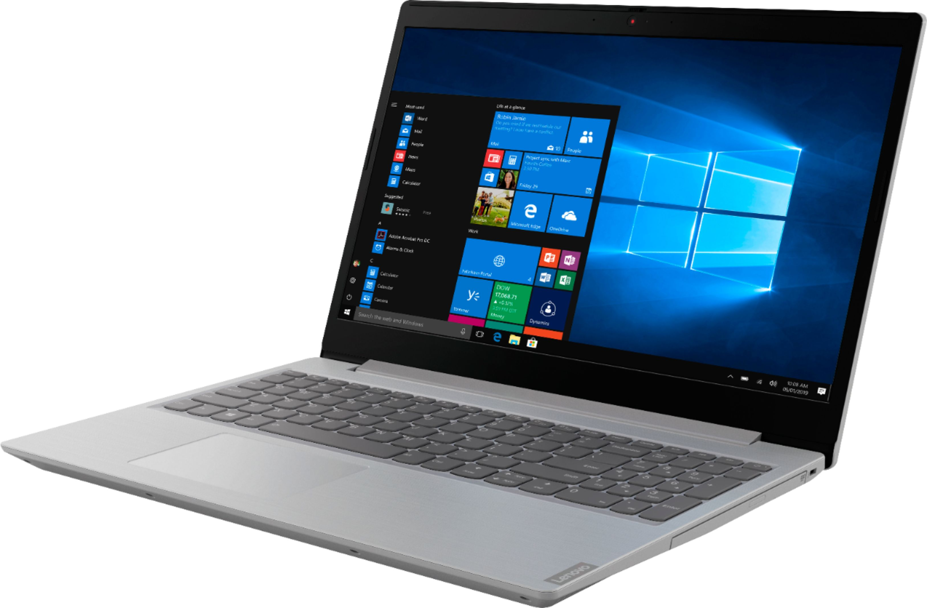 "Left Zoom. Lenovo - Geek Squad Certified Refurbished L340-15API 15.6"" Laptop - AMD Ryzen 3 - 8GB Memory - 1TB HDD - Platinum Gray."