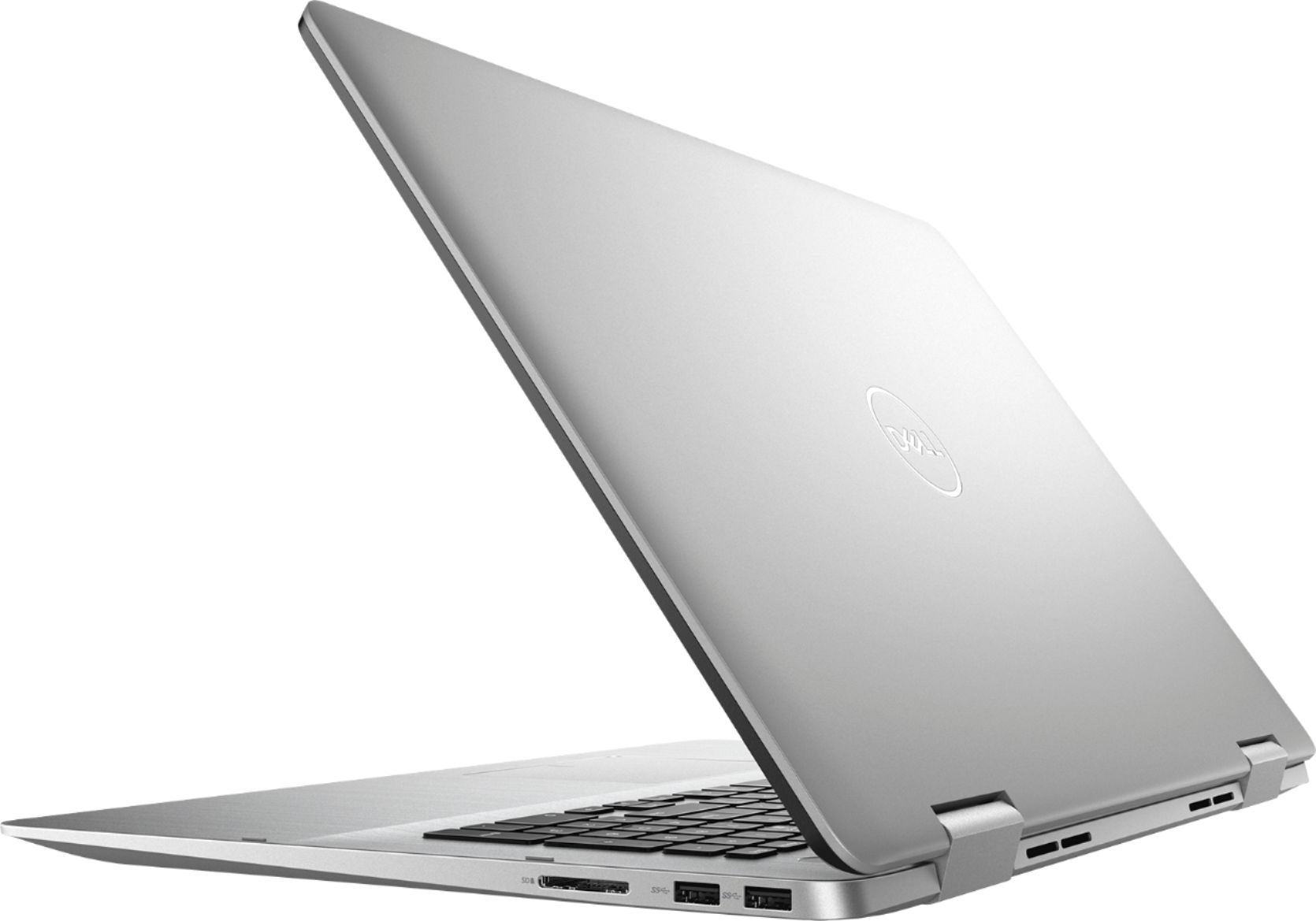 """Alt View Zoom 1. Dell - Inspiron 2-in-1 17.3"""" Geek Squad Certified Refurbished Touch-Screen Laptop - Intel Core i7 - 16GB Memory - 512GB SSD - Silver."""