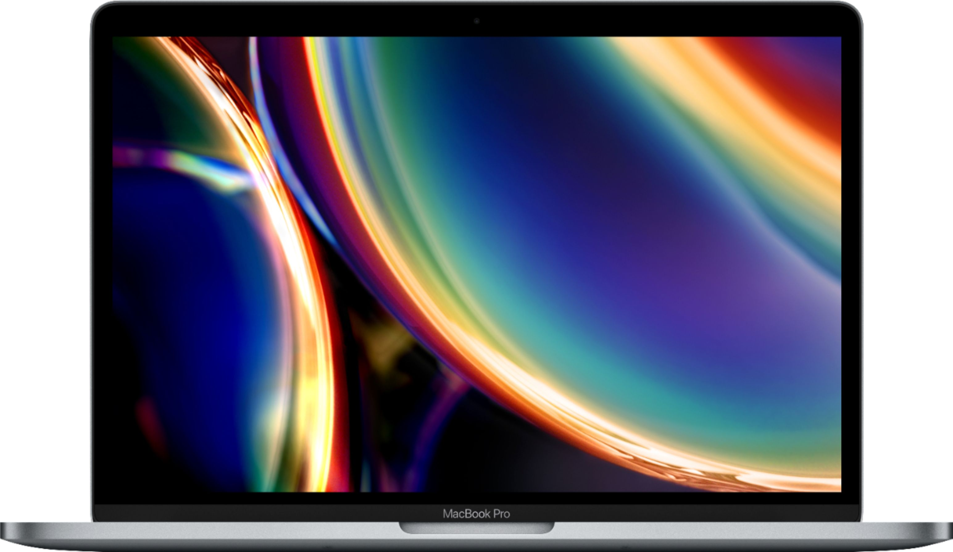 "Front Zoom. Apple - Geek Squad Certified Refurbished MacBook Pro - 13"" Display with Touch Bar - Intel Core i5 - 16GB Memory - 512GB SSD - Space Gray."