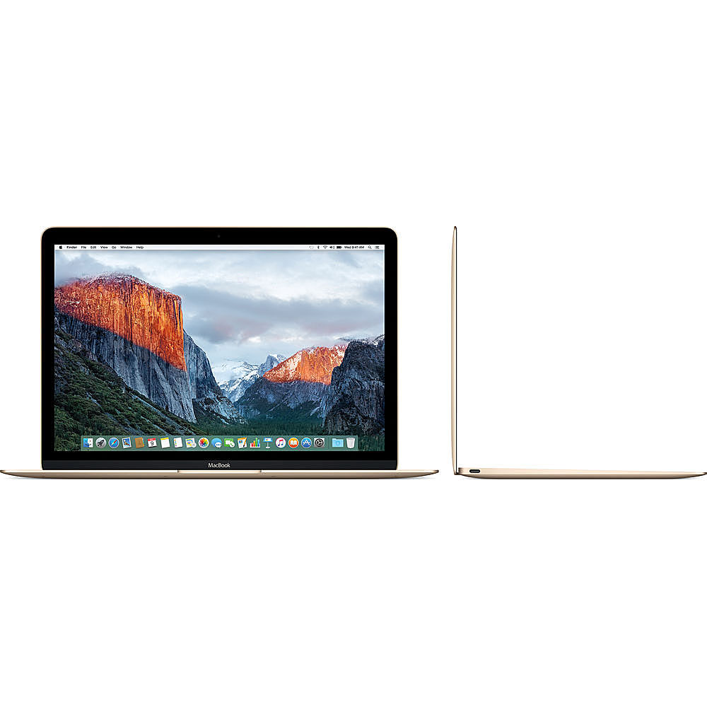 """Left Zoom. Apple - Macbook - 12"""" Pre-Owned - Intel Core M3 - 8GB Memory - 256GB Solid State Drive - Gold."""