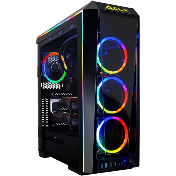 Front Zoom. CLX - SET Gaming Desktop - AMD Ryzen 9 3900X - 32GB Memory - 2 x NVIDIA GeForce RTX 2080 Ti - 6TB Hard Drive + 1TB SSD - Black/RGB.