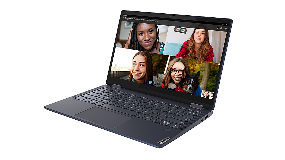 "Alt View Zoom 1. Lenovo Yoga 6 13 2-in-1 13.3"" Touch Screen Laptop - AMD Ryzen 5 - 8GB Memory - 512GB SSD - Abyss Blue Fabric Cover."