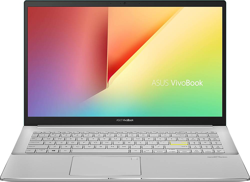 """Front Zoom. ASUS - VivoBook S15 15.6"""" Laptop - Intel Core i5 - 8GB Memory - 512GB SSD - Gaia Green/Transparent Silver."""