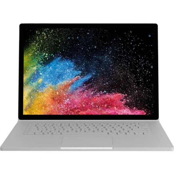 """Microsoft - Geek Squad Certified Refurbished Surface Book 2 - 15"""" Touch-Screen Laptop - Intel Core i7 - 16GB Memory - 1TB GB SSD - Platinum"""