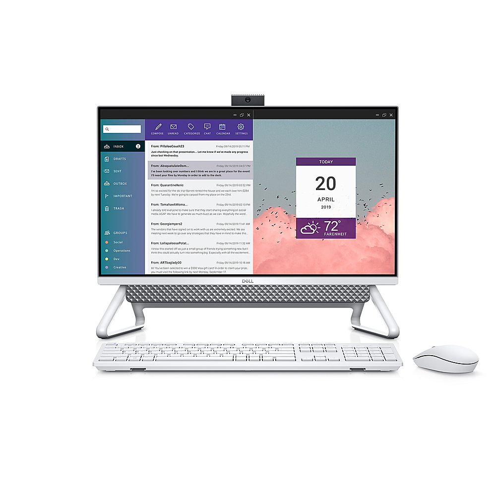 """Alt View Zoom 3. Dell - Inspiron 24"""" Touch screen All-In-One - Intel Core i7 - 16GB Memory - 512GB Solid State Drive - Silver."""