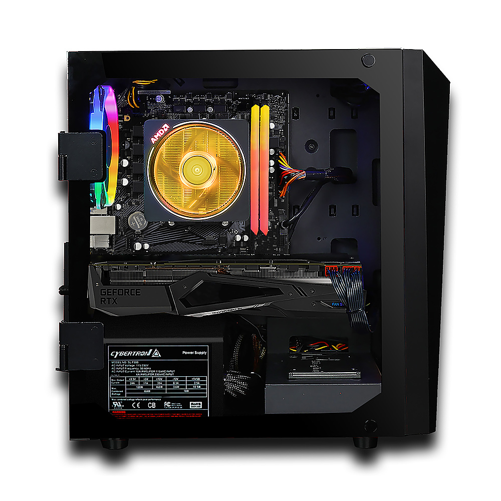 Alt View Zoom 4. CLX - SET Gaming Desktop - AMD Ryzen 7 3700X - 16GB Memory - NVIDIA GeForce RTX 3080 - 2TB HDD + 240GB SSD - Black.