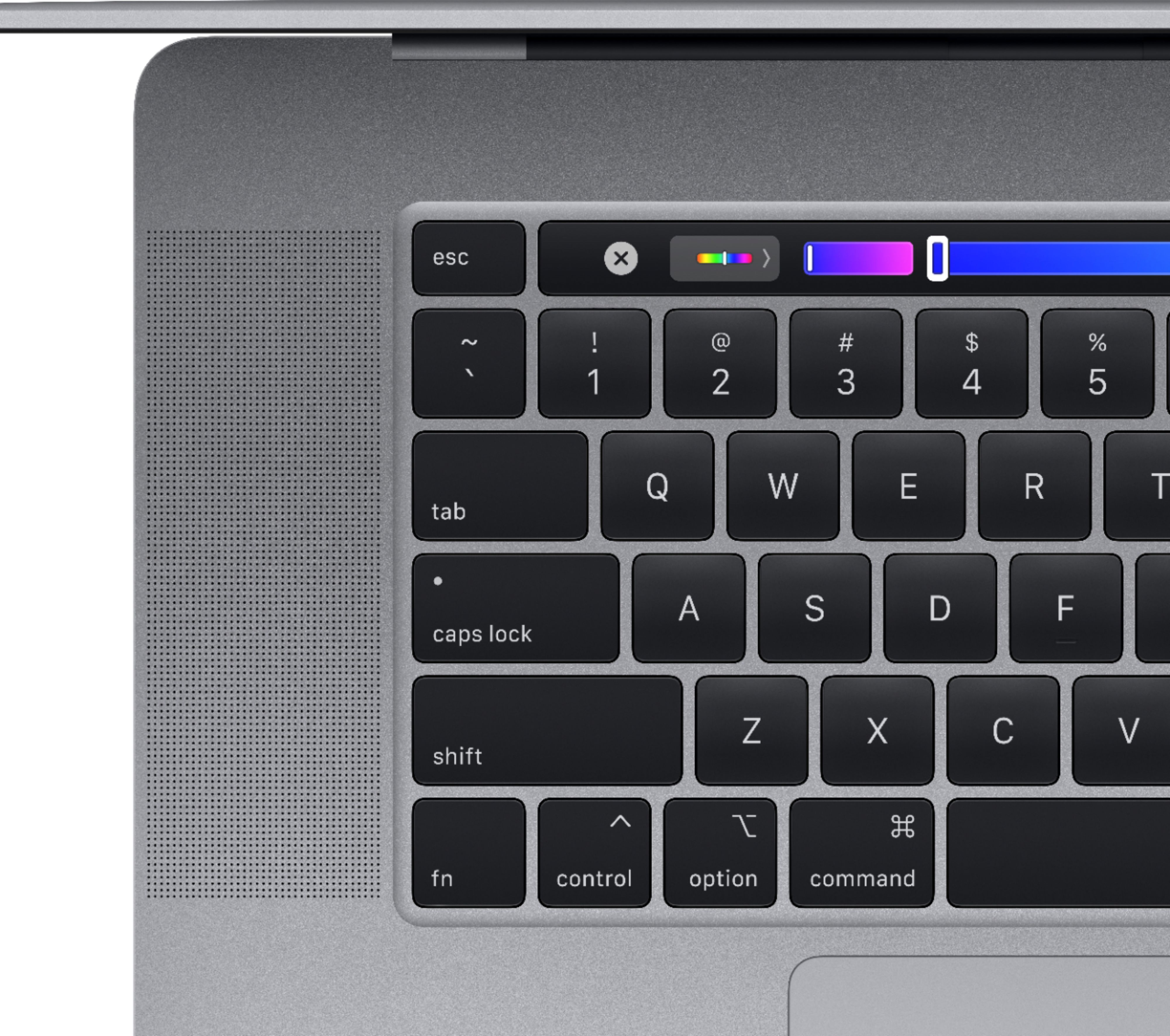 """Alt View Zoom 12. Apple - MacBook Pro - 16"""" Display with Touch Bar - Intel Core i7 - 16GB Memory - AMD Radeon Pro 5300M - 512GB SSD (Latest Model) - Space Gray."""