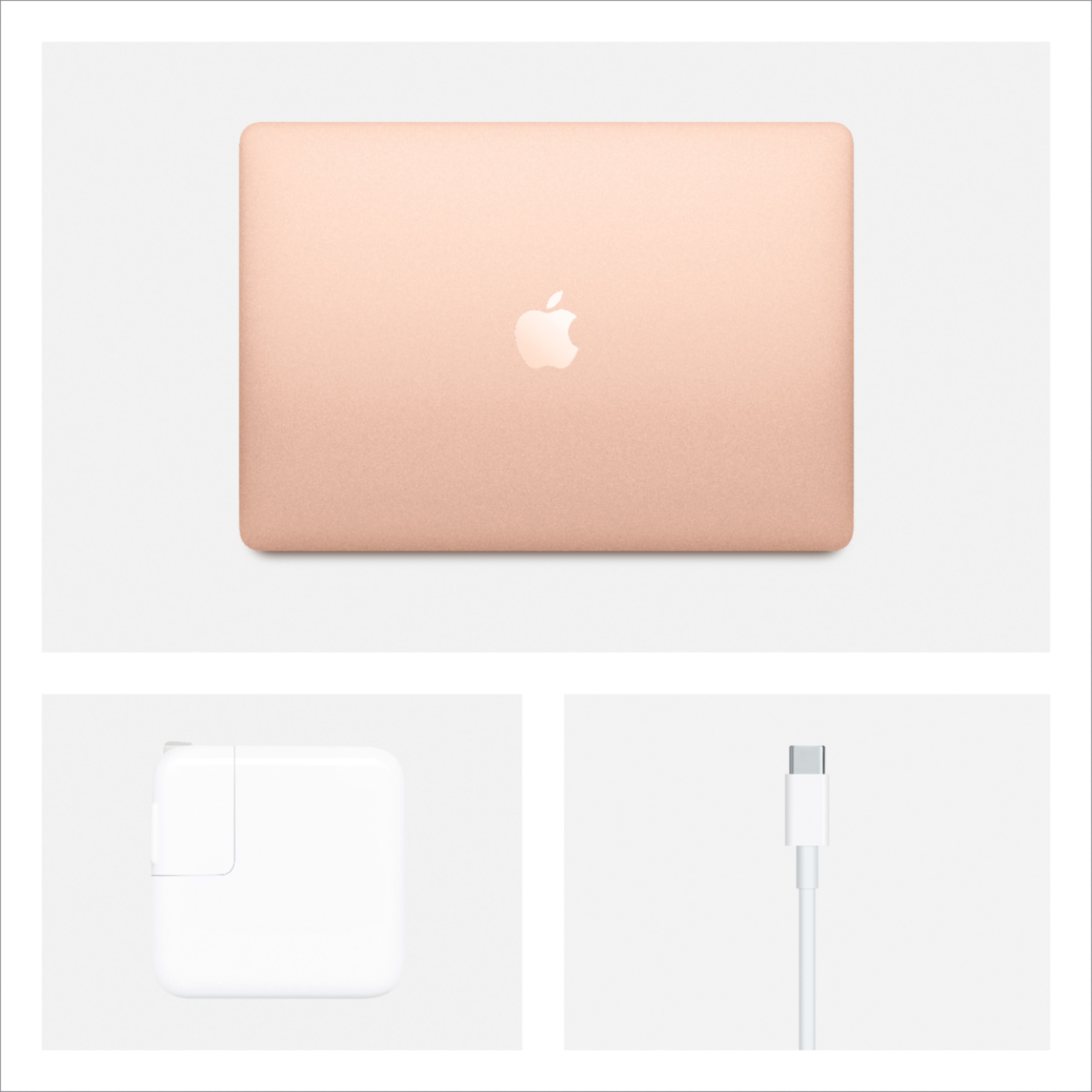 """Alt View Zoom 15. Apple - MacBook Air 13.3"""" Laptop with Touch ID - Intel Core i3 - 8GB Memory - 256GB Solid State Drive - Gold."""