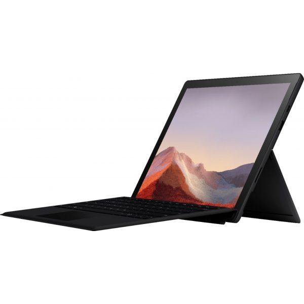 """Microsoft - Surface Pro 7 - 12.3"""" Touch Screen - Intel Core i5 - 8GB Memory - 256GB SSD with Black Type Cover (Latest Model) - Matte Black"""