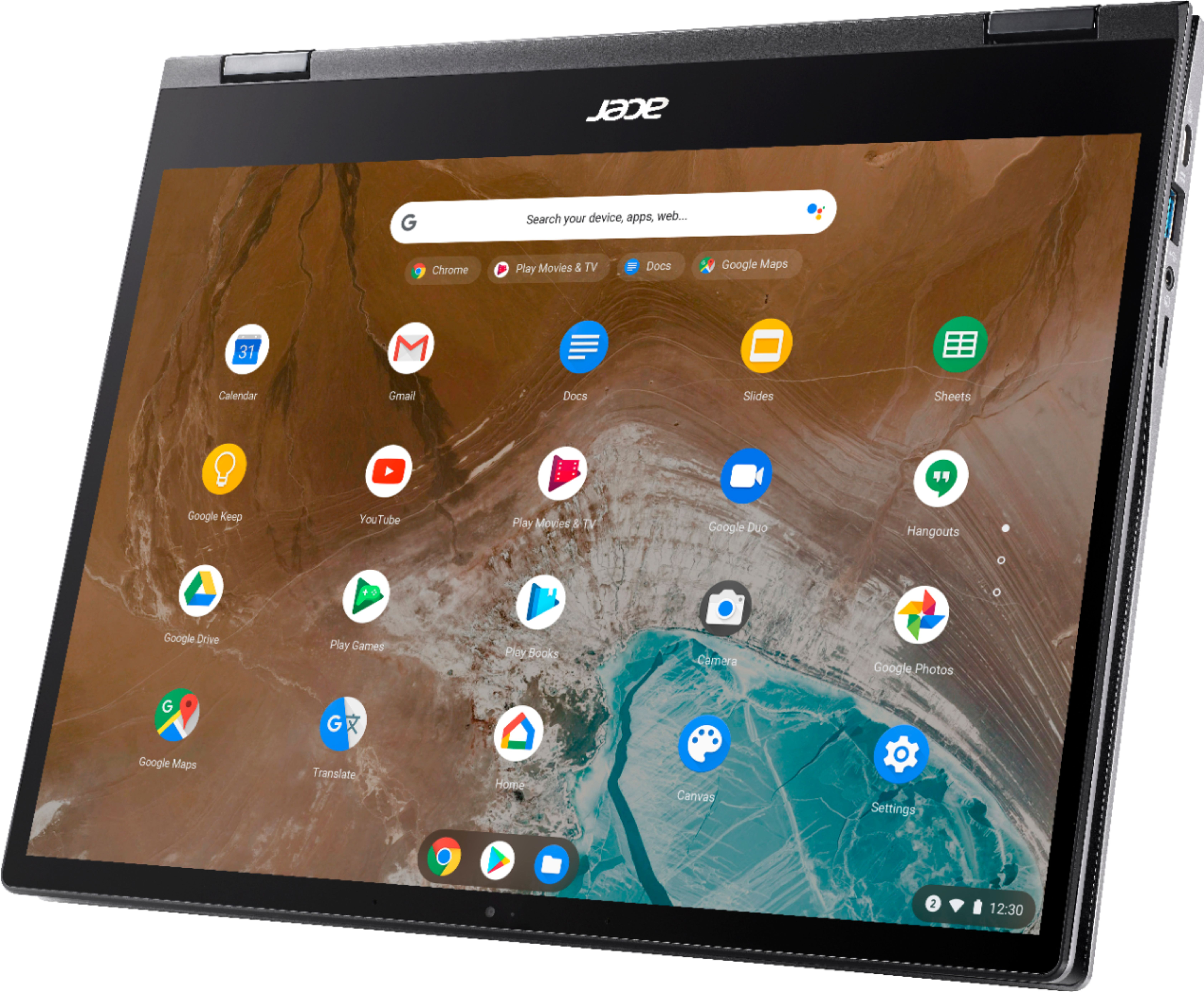 """Left Zoom. Acer - Chromebook Spin 713 2-in-1 13.5"""" 2K VertiView 3:2 Touch - Intel i5-10210U - 8GB Memory - 128GB SSD – Steel Gray."""