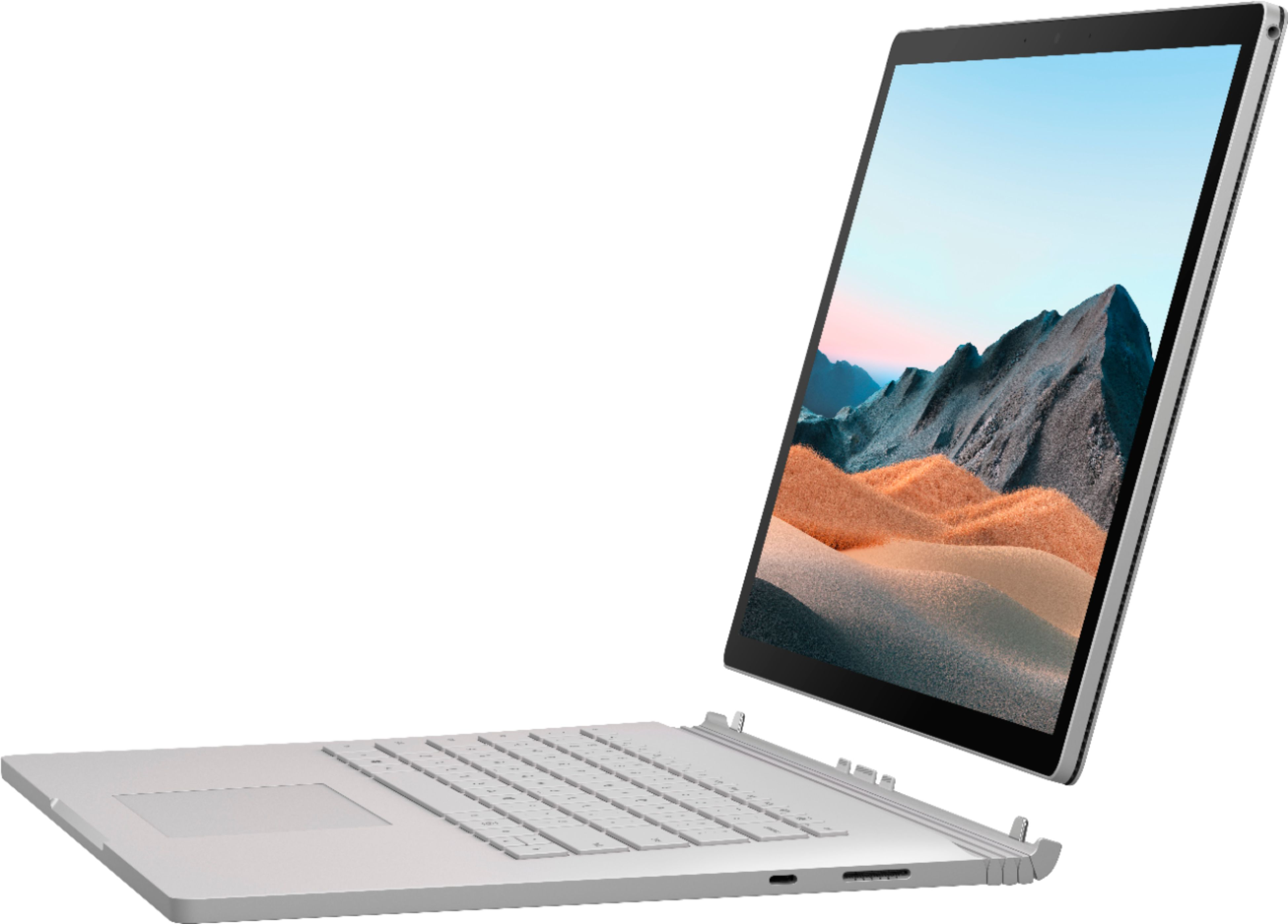 """Front Zoom. Microsoft - Surface Book 3 15"""" Touch-Screen PixelSense™ - 2-in-1 Laptop - Intel Core i7 - 16GB Memory - 256GB SSD - Platinum."""