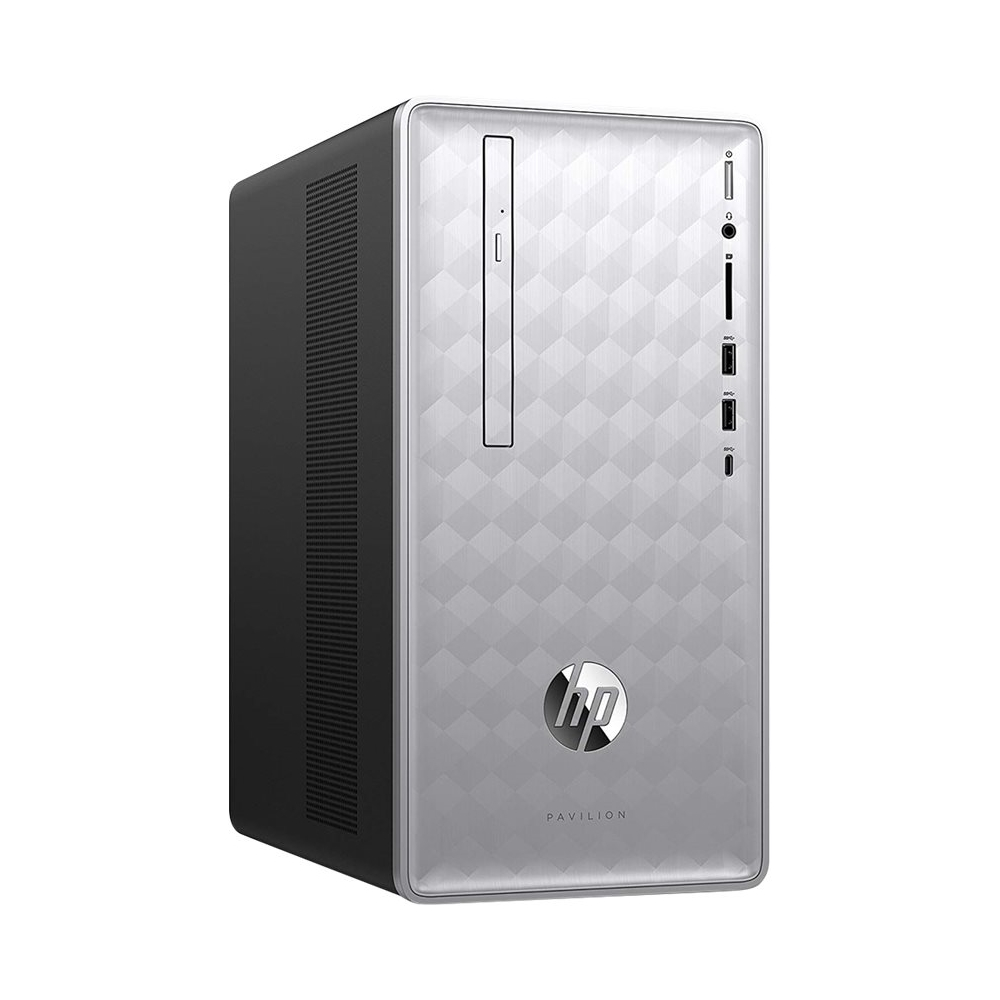 Left Zoom. Pavilion Desktop - Intel Core i7 - 16GB Memory - 1TB HDD + 256GB SSD - HP Finish In Natural Silver.