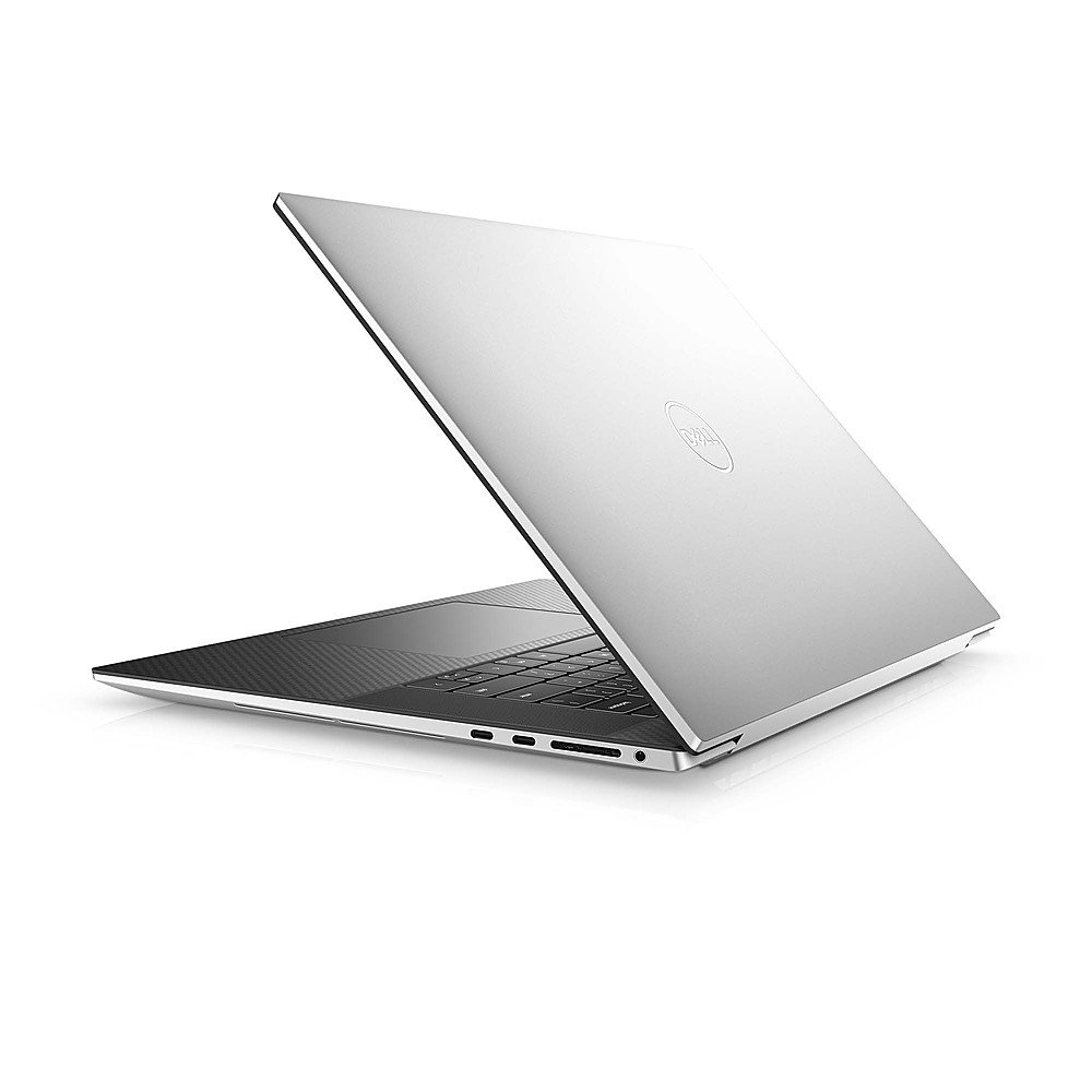 "Alt View Zoom 1. Dell - XPS 17"" UHD+ Touch Laptop - Intel Core i7 - 32GB Memory - 1TB SSD - NVIDIA GeForce RTX 2060 - Platinum Silver, black interior."