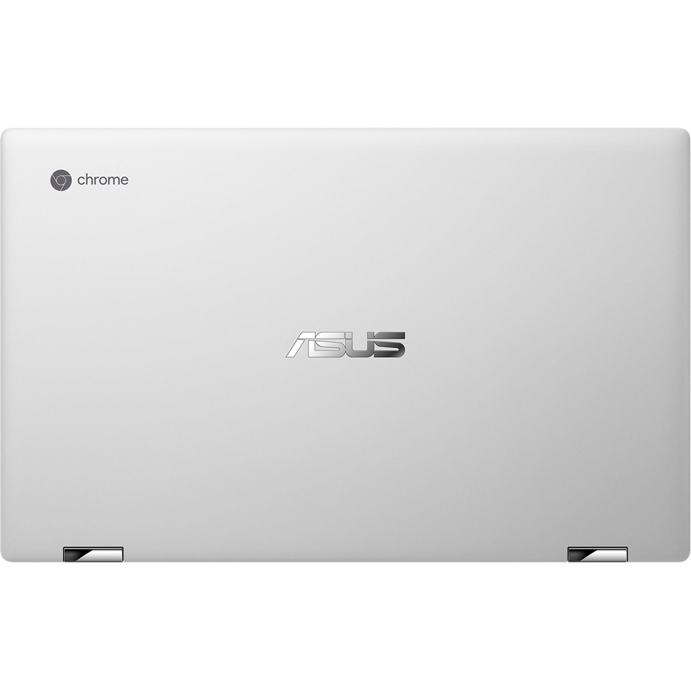 """Alt View Zoom 14. ASUS - Flip C434TA 2-in-1 14"""" Touch-Screen Chromebook - Intel Core m3 - 4GB Memory - 64GB eMMC Flash Memory - Spangle Silver."""