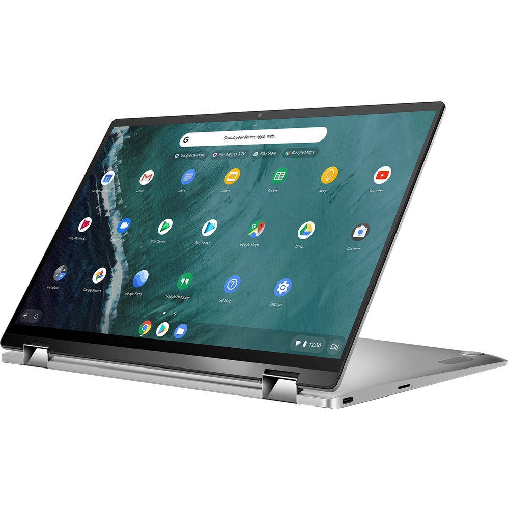 """Alt View Zoom 11. ASUS - Flip C434TA 2-in-1 14"""" Touch-Screen Chromebook - Intel Core m3 - 4GB Memory - 64GB eMMC Flash Memory - Spangle Silver."""