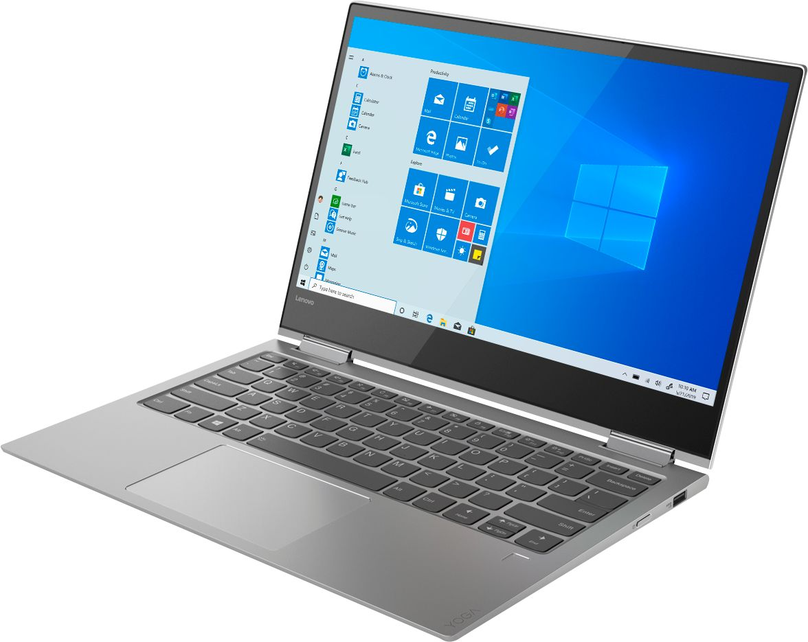 """Left Zoom. Lenovo - Yoga 730 2-in-1 13.3"""" Touch-Screen Laptop - Intel Core i5 - 8GB Memory - 256GB Solid State Drive - Platinum."""