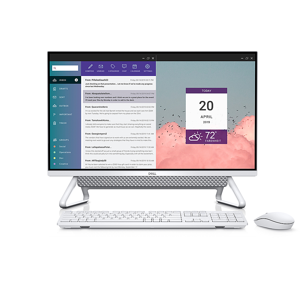 """Front Zoom. Dell - Inspiron 27"""" Touch screen All-In-One - Intel Core i7 - 16GB Memory - 512GB Solid State Drive - Silver."""