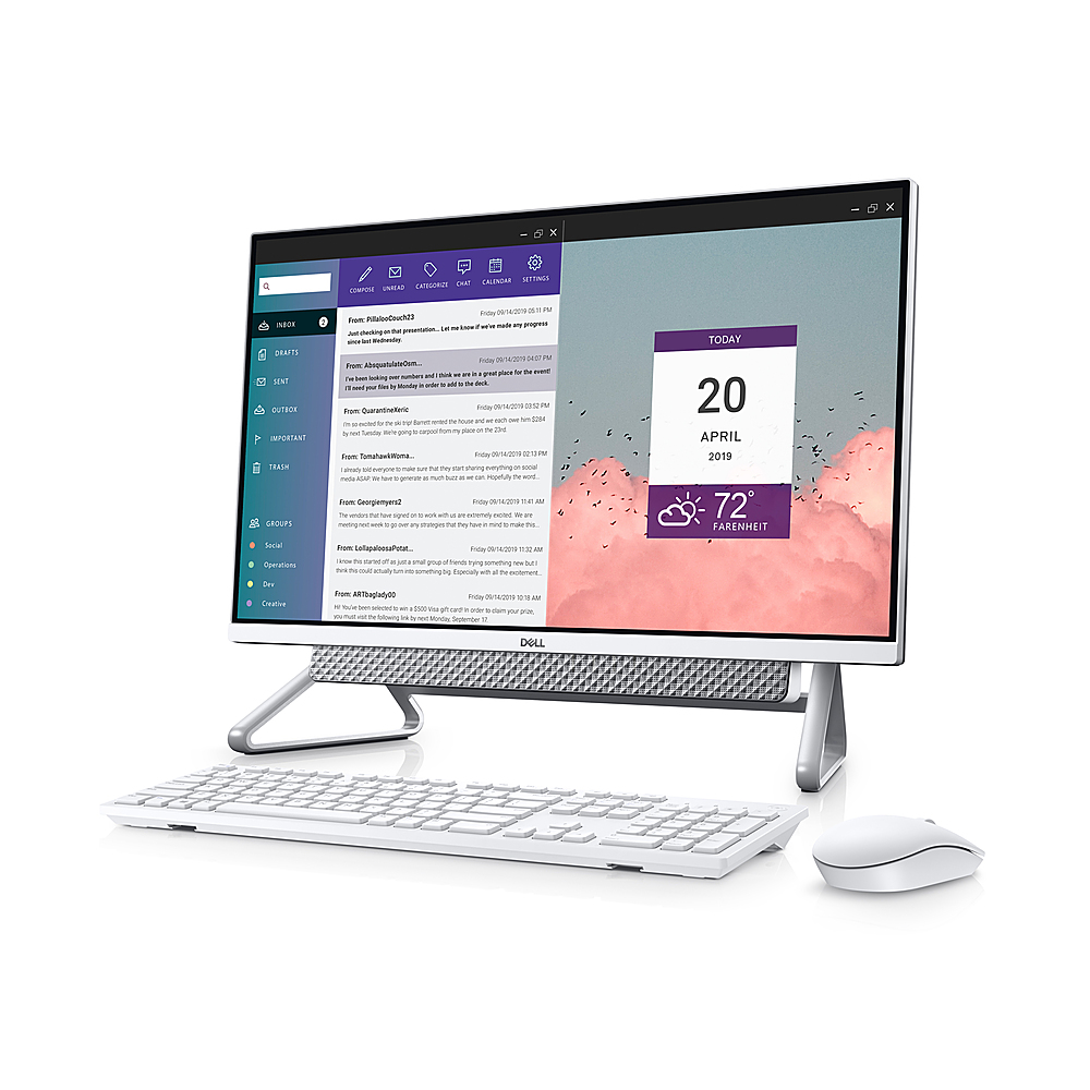 """Alt View Zoom 2. Dell - Inspiron 27"""" Touch screen All-In-One - Intel Core i7 - 16GB Memory - 512GB Solid State Drive - Silver."""