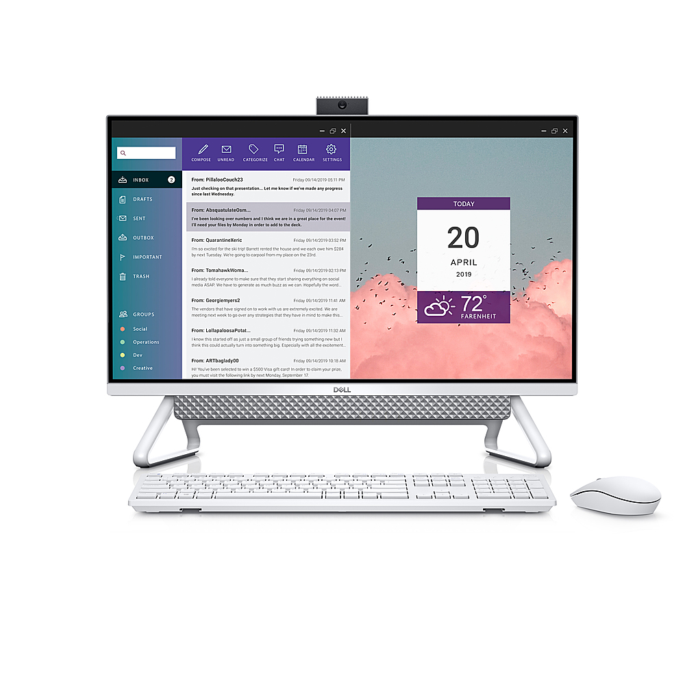 """Alt View Zoom 3. Dell - Inspiron 27"""" Touch screen All-In-One - Intel Core i7 - 16GB Memory - 512GB Solid State Drive - Silver."""