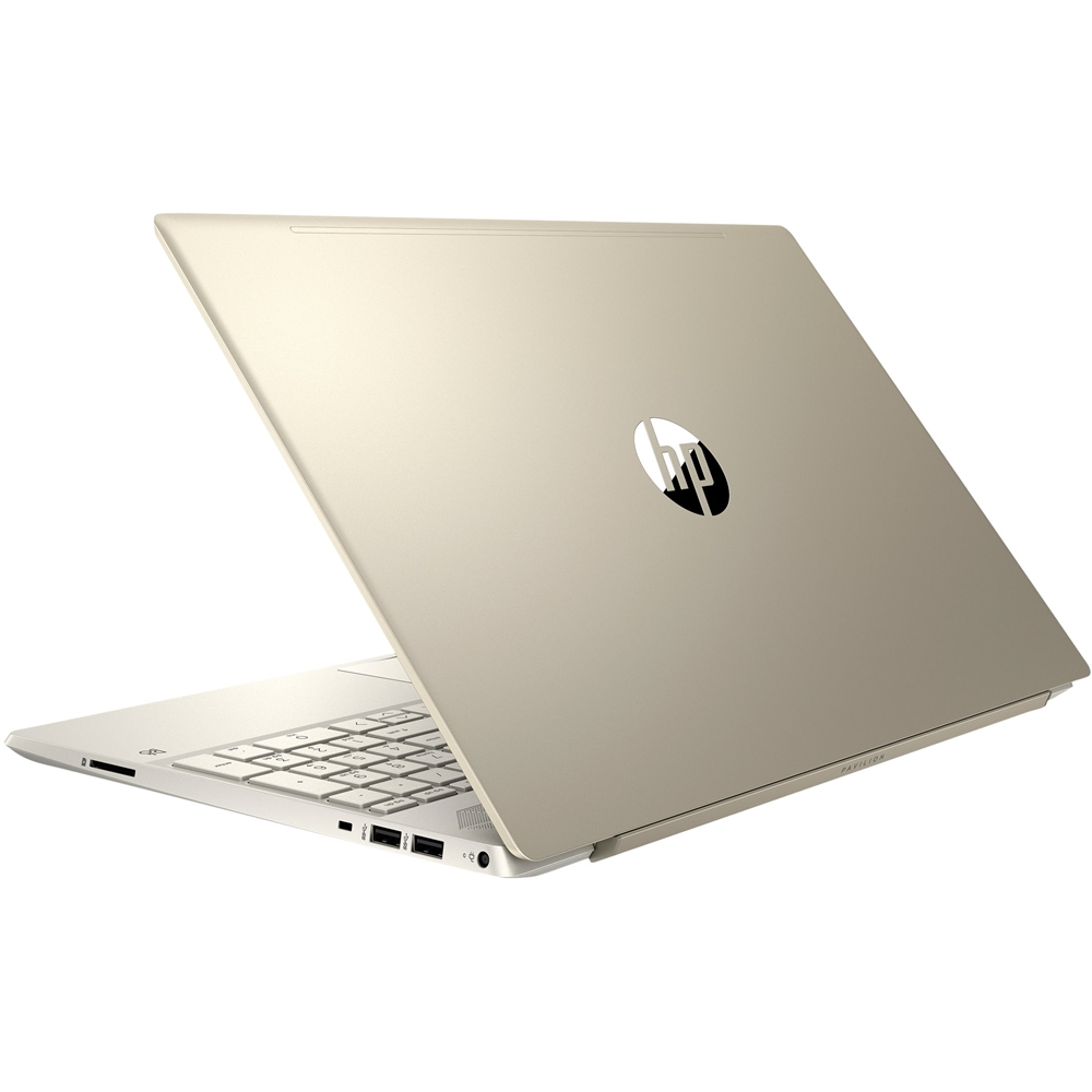 """Front Zoom. HP - Pavilion 15.6"""" Touch-Screen Laptop - Intel Core i7 - 8GB Memory - 256GB Solid State Drive - Sandblasted Anodized Finish, Luminous Gold."""