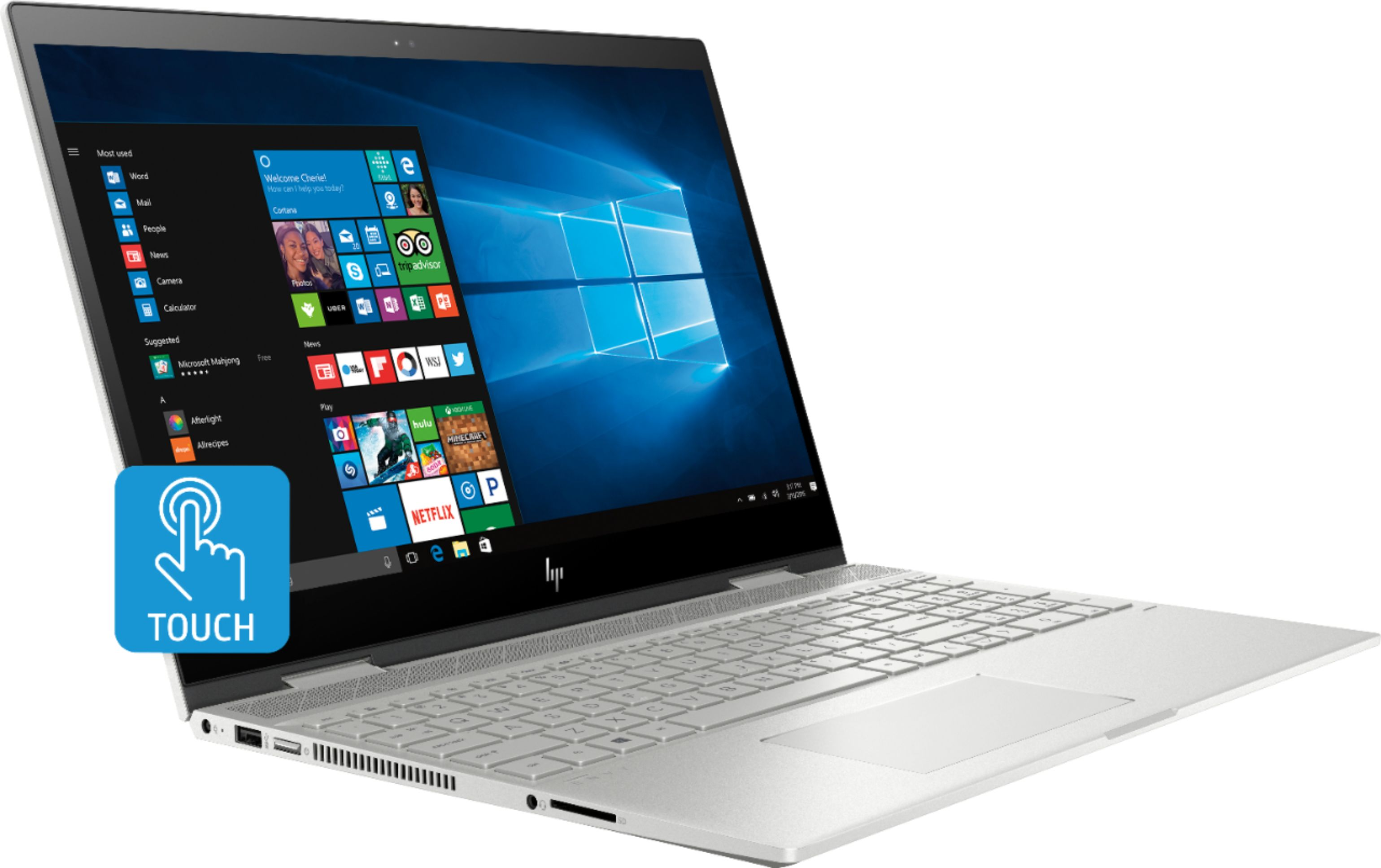 """Angle Zoom. Geek Squad Certified Refurbished ENVY x360 2-in-1 15.6"""" Touch-Screen Laptop - Intel Core i7 - 12GB Memory - 256GB SSD - HP Finish In Natural Silver."""
